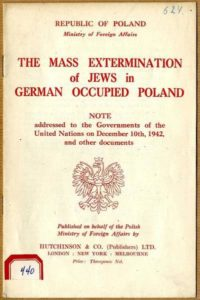 """Fig. 3. """"Mass extermination of Jews in German-occupied Poland"""" - a brochure of the Polish Government-in-exile from December 1942."""
