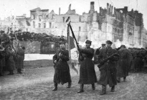 Polish troops in Warsaw, 19 January 1945, public domain