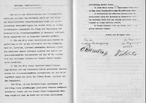 The secret appendix to the Molotov-Ribbentrop Pact naming the German and Soviet spheres of interest (public domain)
